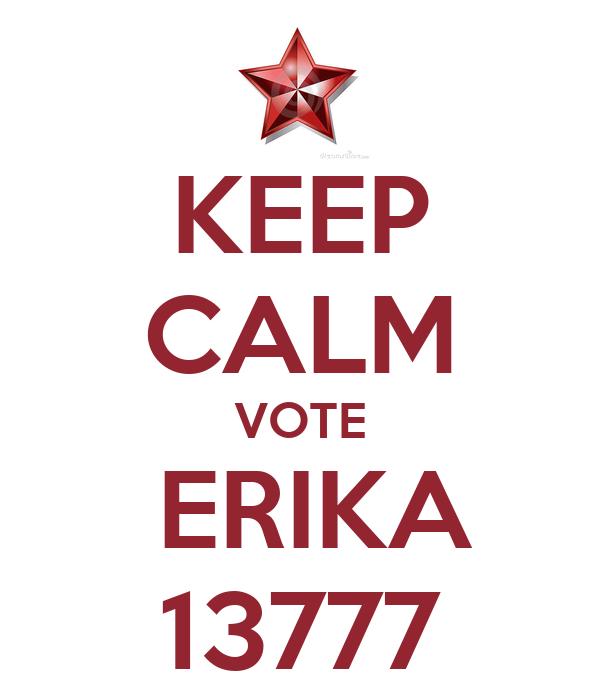 KEEP CALM VOTE  ERIKA 13777