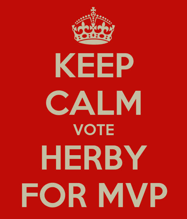 KEEP CALM VOTE HERBY FOR MVP
