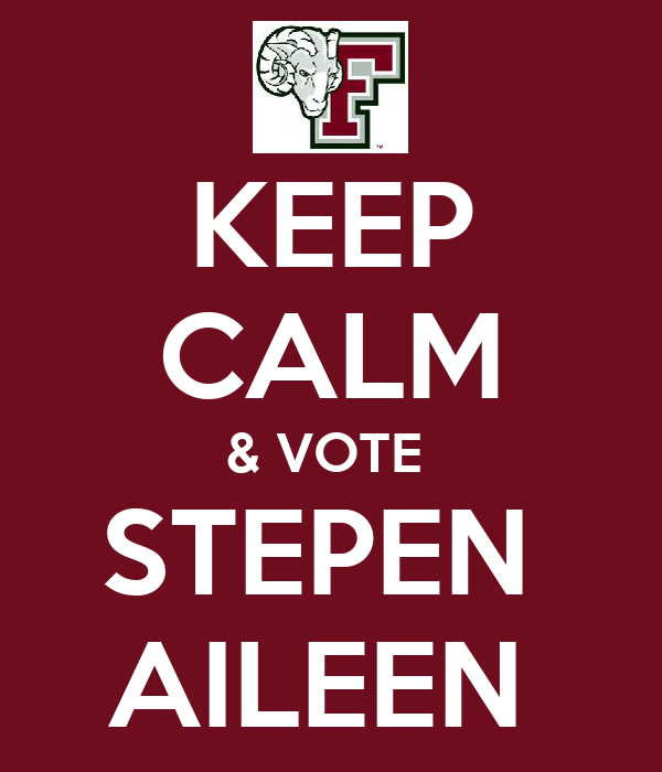 KEEP CALM & VOTE  STEPEN  AILEEN