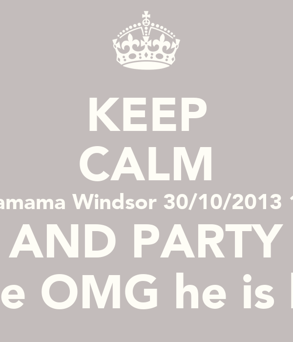KEEP CALM Wagamama Windsor 30/10/2013 18:00 AND PARTY Because OMG he is leaving