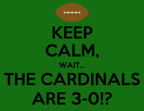KEEP CALM, WAIT... THE CARDINALS ARE 3-0!?