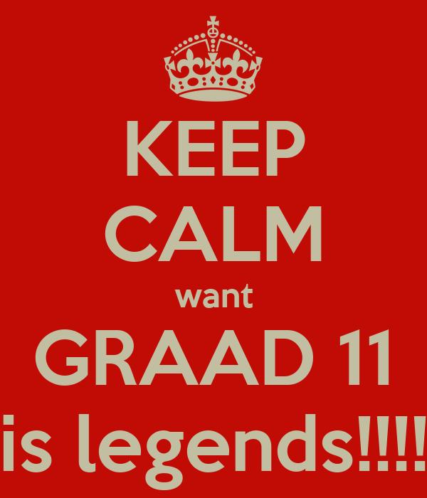 KEEP CALM want GRAAD 11 is legends!!!!