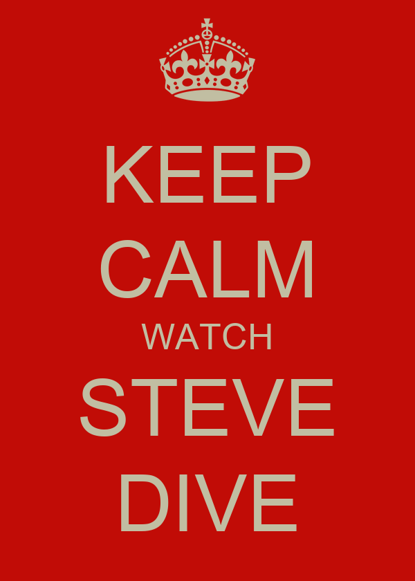KEEP CALM WATCH STEVE DIVE