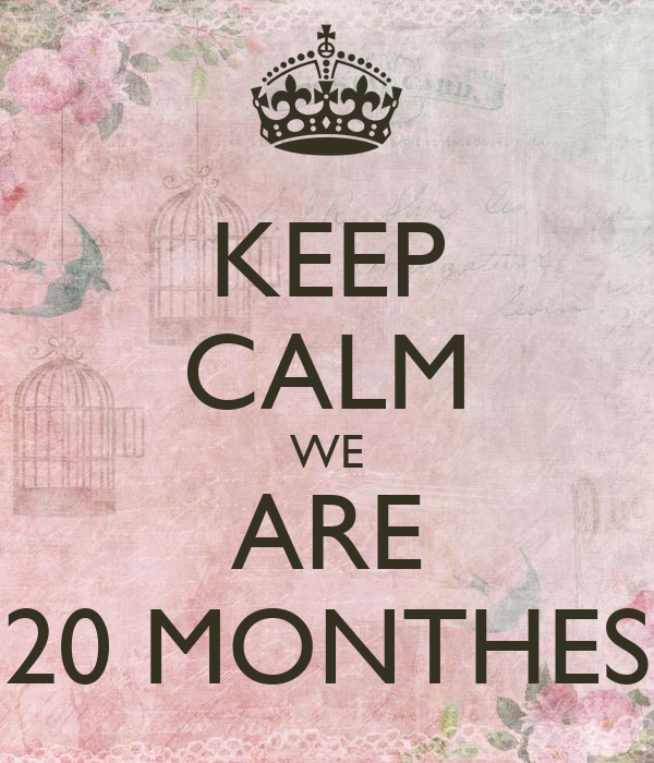 KEEP CALM WE ARE 20 MONTHES