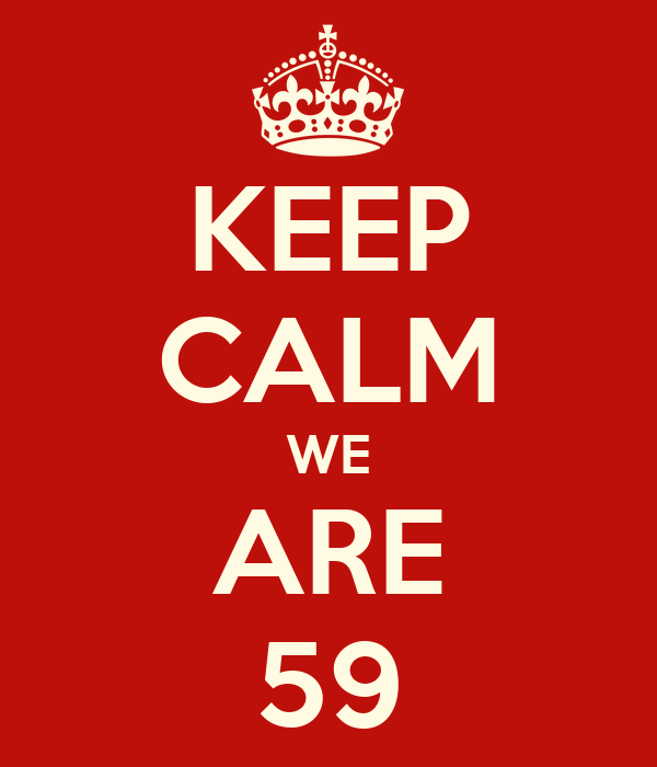 KEEP CALM WE ARE 59