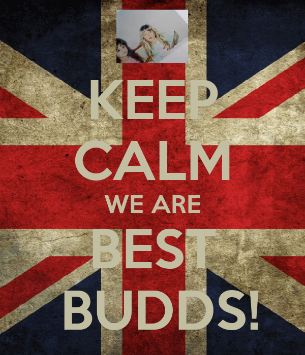 KEEP CALM WE ARE BEST  BUDDS!
