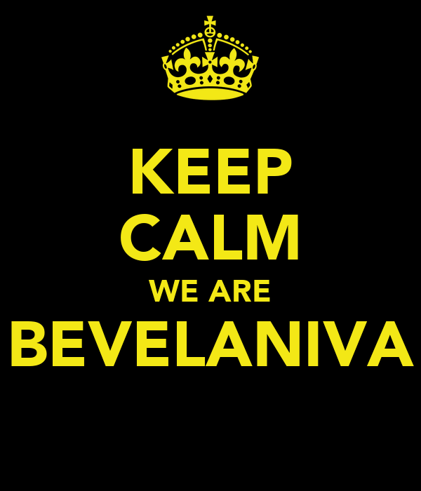 KEEP CALM WE ARE BEVELANIVA