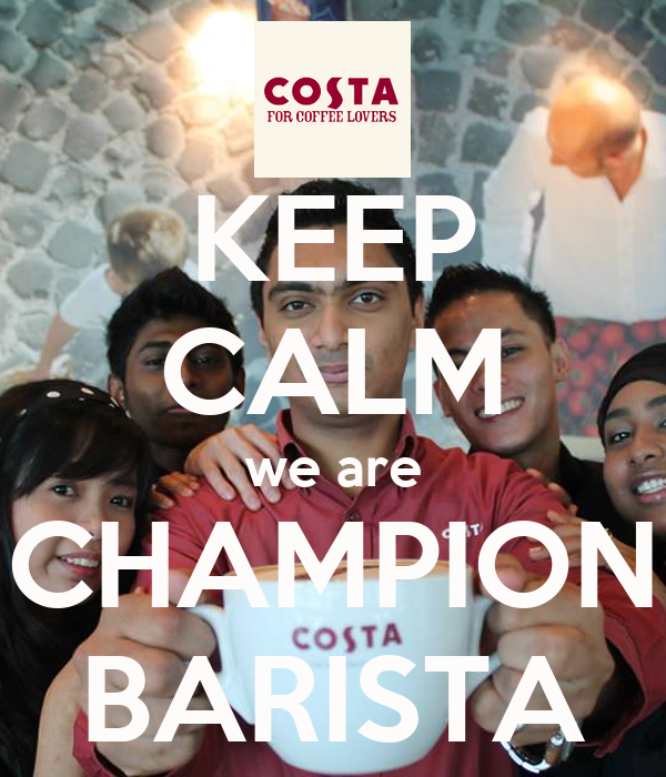 KEEP CALM we are CHAMPION BARISTA