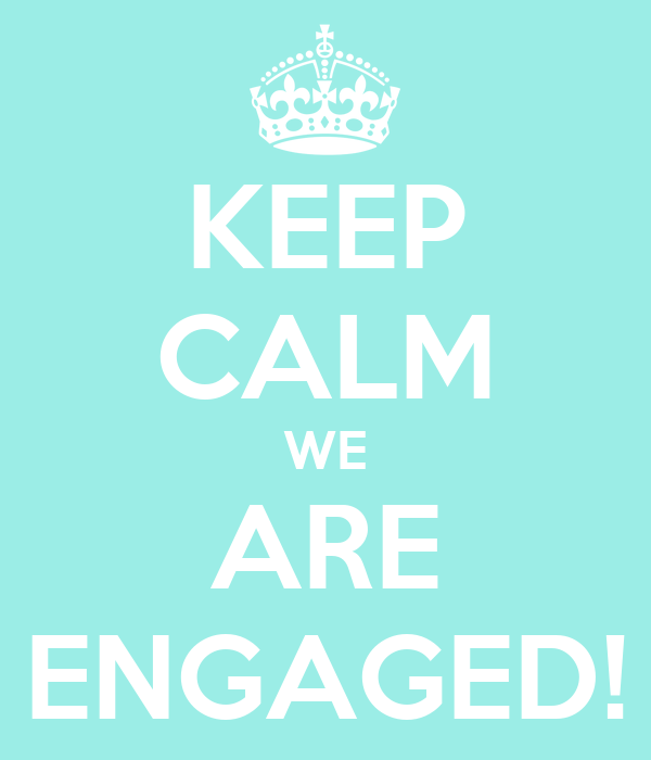 KEEP CALM WE ARE ENGAGED!