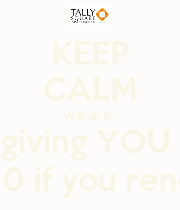 KEEP CALM we are  giving YOU  $300 if you renew!