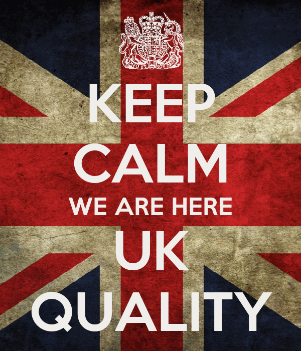 KEEP CALM WE ARE HERE UK QUALITY