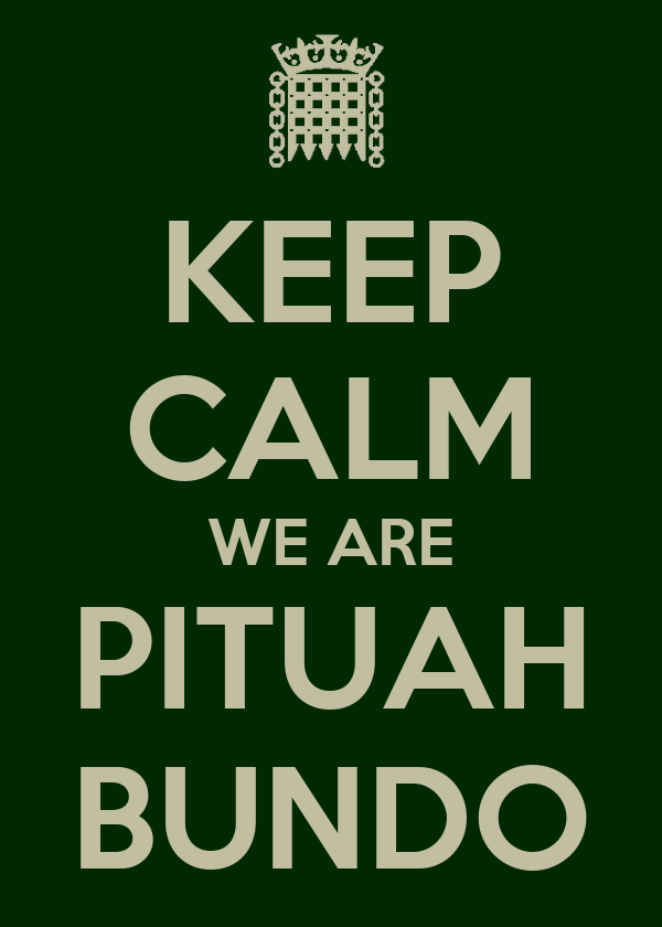KEEP CALM WE ARE PITUAH BUNDO