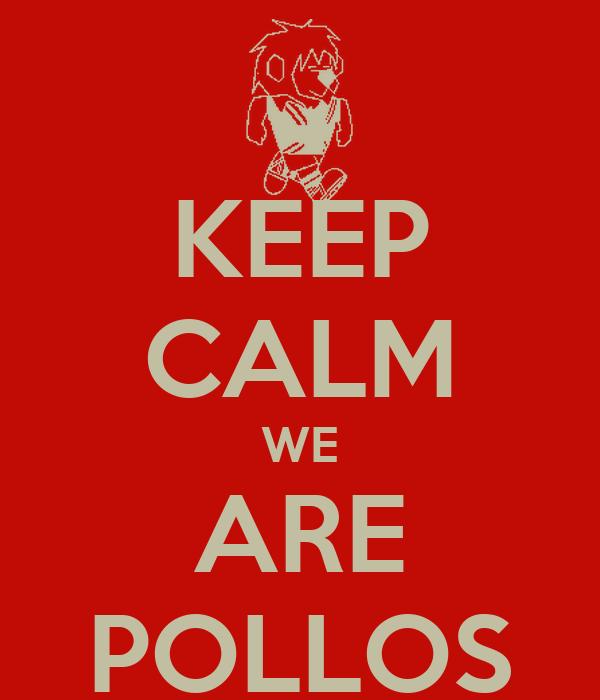 KEEP CALM WE ARE POLLOS