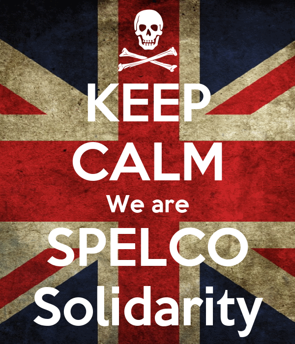 KEEP CALM We are SPELCO Solidarity