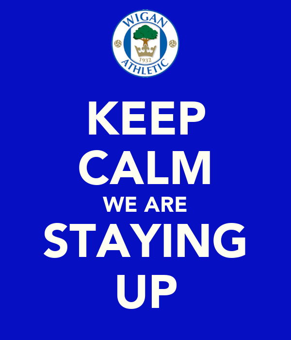 KEEP CALM WE ARE STAYING UP