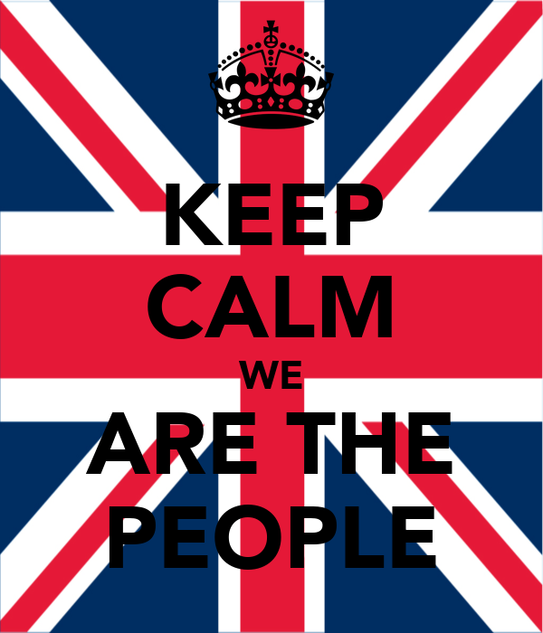 KEEP CALM WE ARE THE PEOPLE