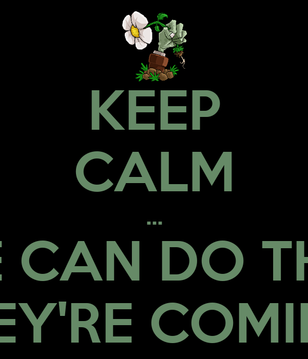 KEEP CALM ... WE CAN DO THIS! THEY'RE COMING!