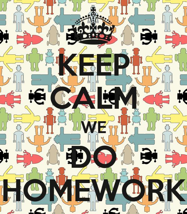 We do homework