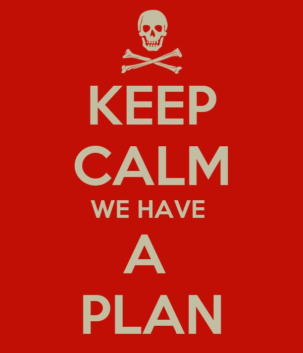 KEEP CALM WE HAVE  A  PLAN