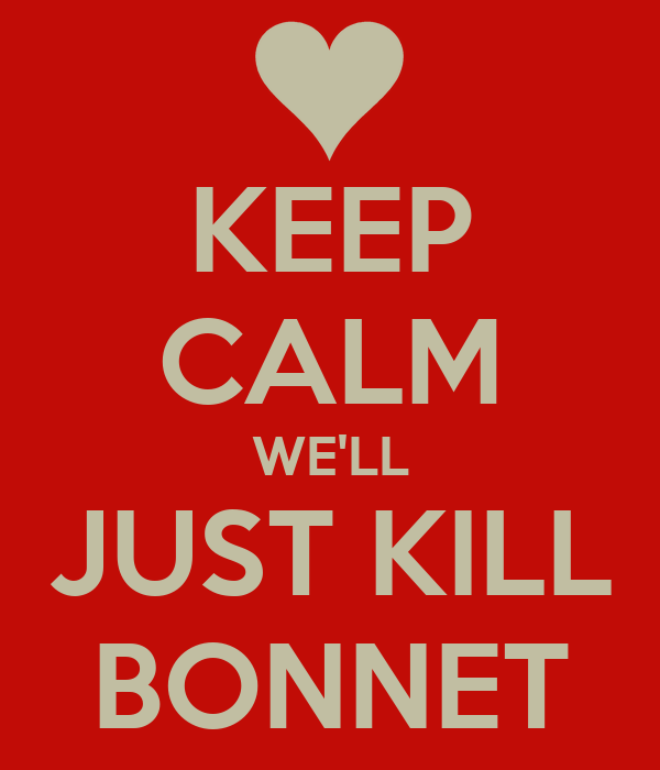 KEEP CALM WE'LL JUST KILL BONNET