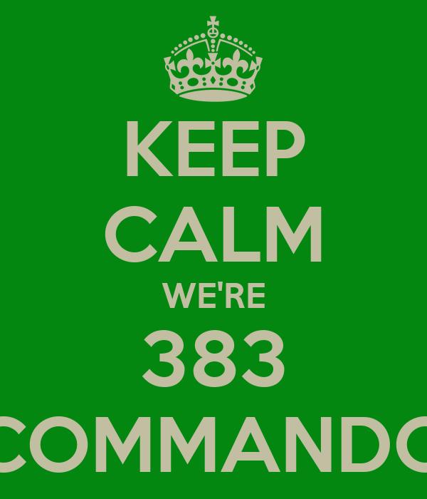 KEEP CALM WE'RE 383 COMMANDO