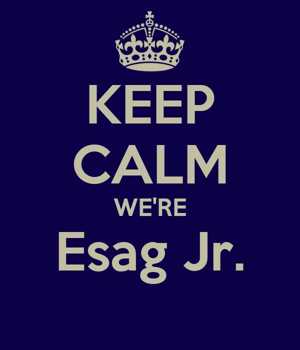 KEEP CALM WE'RE Esag Jr.