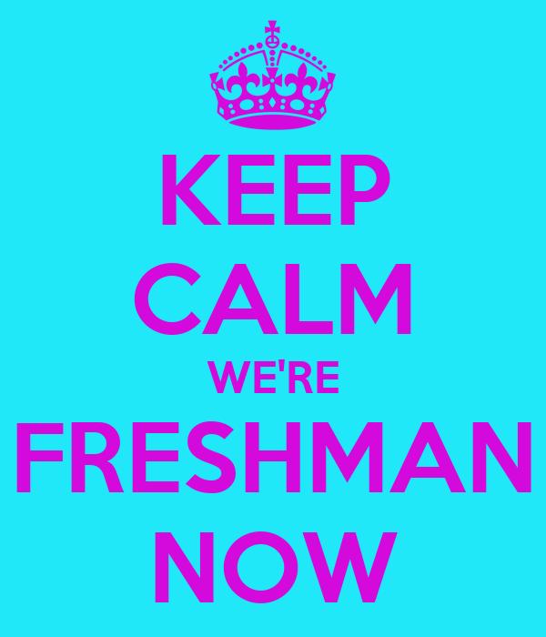 KEEP CALM WE'RE FRESHMAN NOW