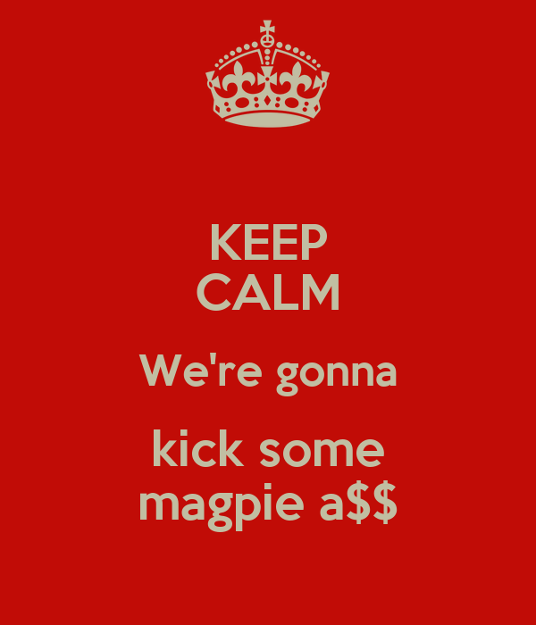 KEEP CALM We're gonna kick some magpie a$$