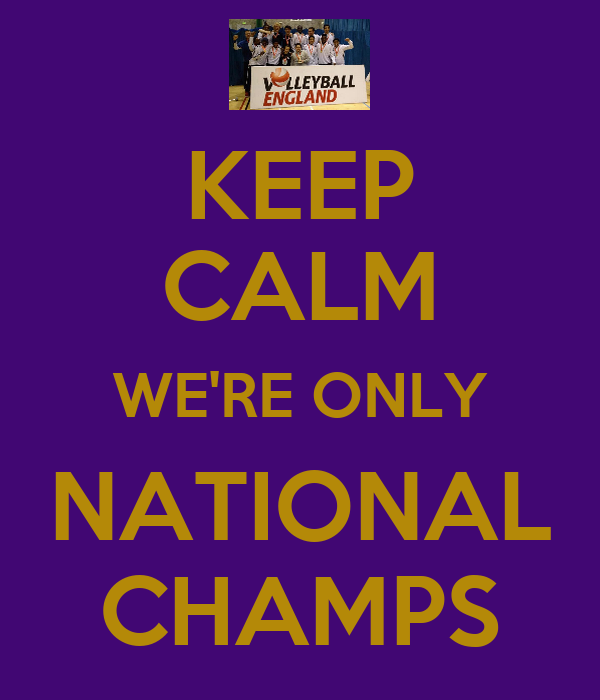 KEEP CALM WE'RE ONLY NATIONAL CHAMPS
