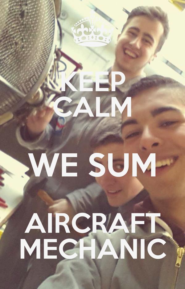 Keep Calm We Sum Aircraft Mechanic Poster Elias Keep