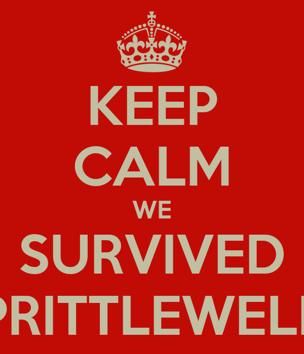 KEEP CALM WE SURVIVED PRITTLEWELL