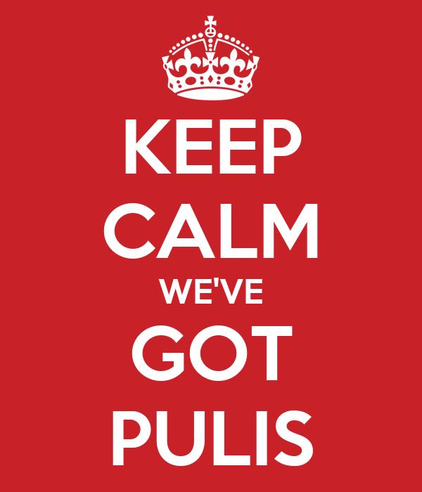 KEEP CALM WE'VE GOT PULIS