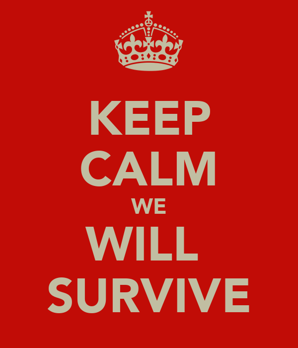 KEEP CALM WE WILL  SURVIVE