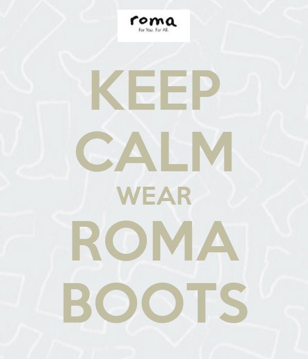 KEEP CALM WEAR ROMA BOOTS