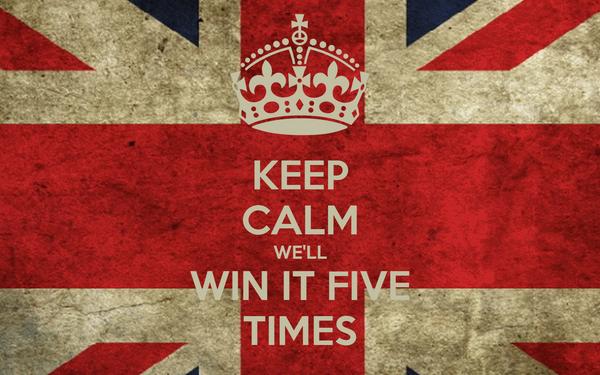 KEEP CALM WE'LL WIN IT FIVE TIMES