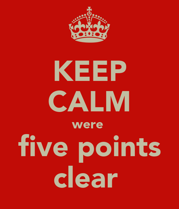 KEEP CALM were  five points clear