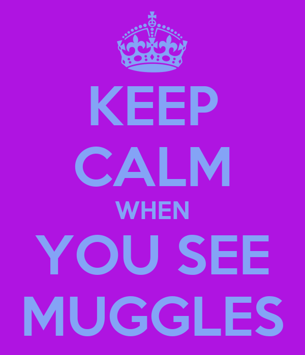 KEEP CALM WHEN YOU SEE MUGGLES