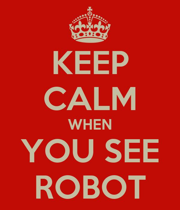 KEEP CALM WHEN YOU SEE ROBOT