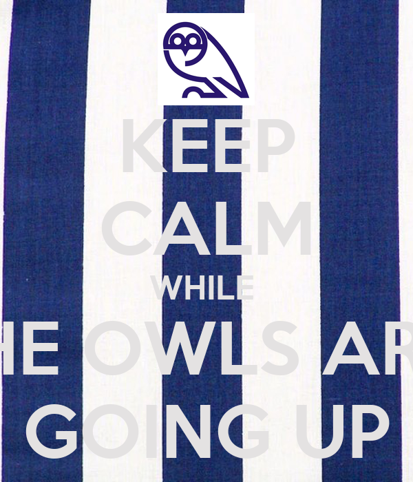 KEEP CALM WHILE  THE OWLS ARE  GOING UP