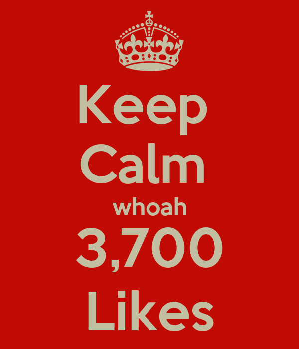 Keep  Calm  whoah 3,700 Likes