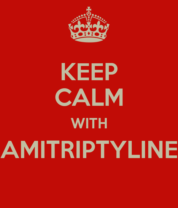 KEEP CALM WITH AMITRIPTYLINE