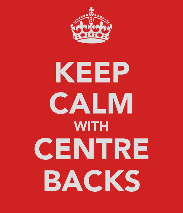 KEEP CALM WITH CENTRE BACKS