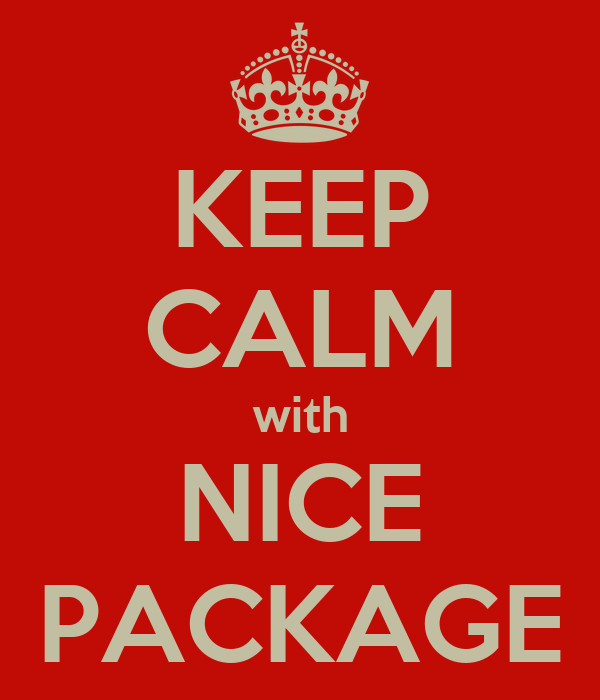 KEEP CALM with NICE PACKAGE