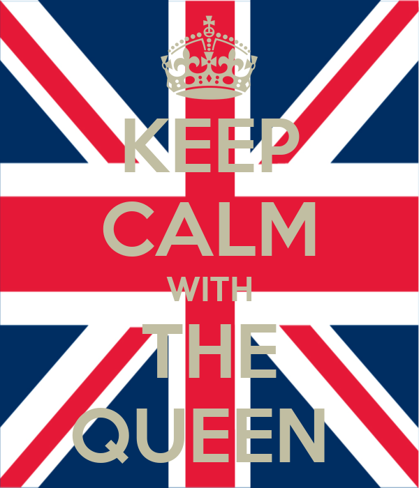 KEEP CALM WITH THE QUEEN