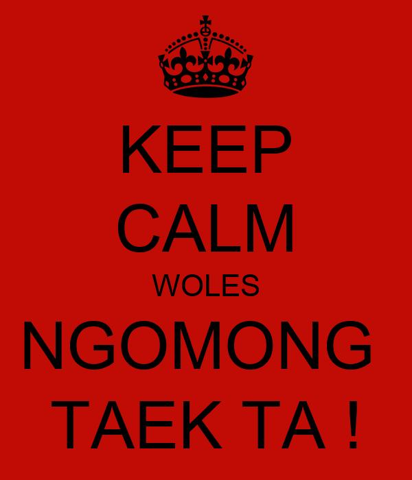 KEEP CALM WOLES NGOMONG  TAEK TA !