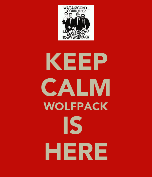 KEEP CALM WOLFPACK IS  HERE