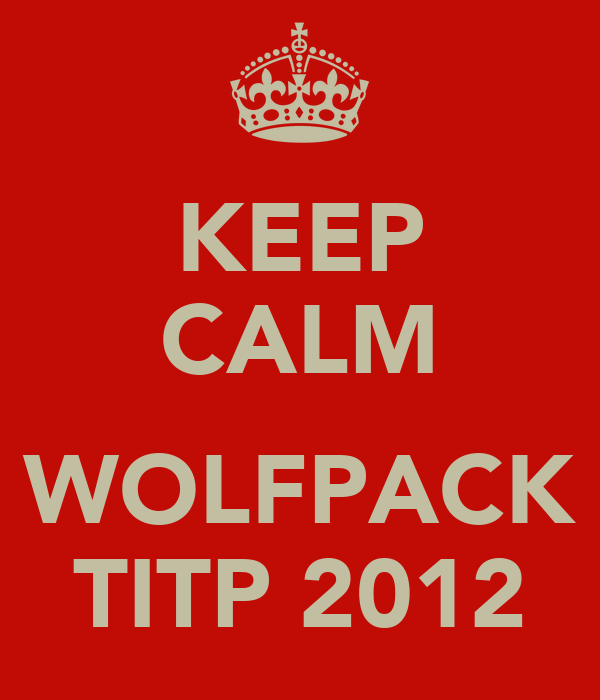 KEEP CALM  WOLFPACK TITP 2012