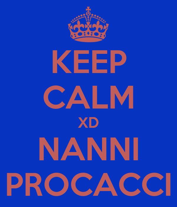 KEEP CALM XD NANNI PROCACCI