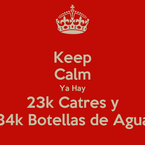 Keep Calm Ya Hay 23k Catres y 84k Botellas de Agua
