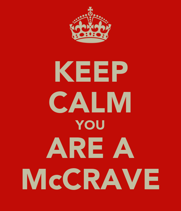 KEEP CALM YOU ARE A McCRAVE